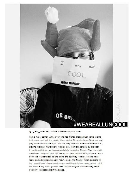 #wearealluncool