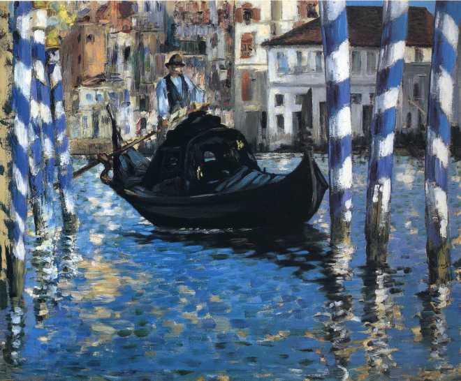 Гранд канал в Венеции Синяя Венеция Мане