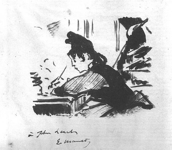 Пишущая женщина 1863