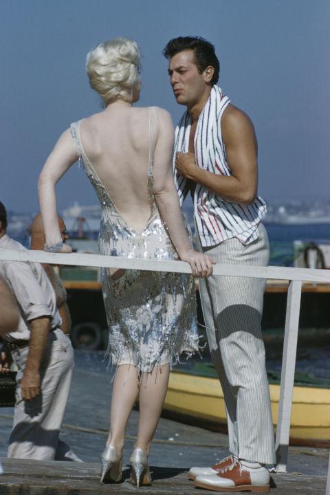 Мэрилин Монро и Тони Кёртис. 1958 год