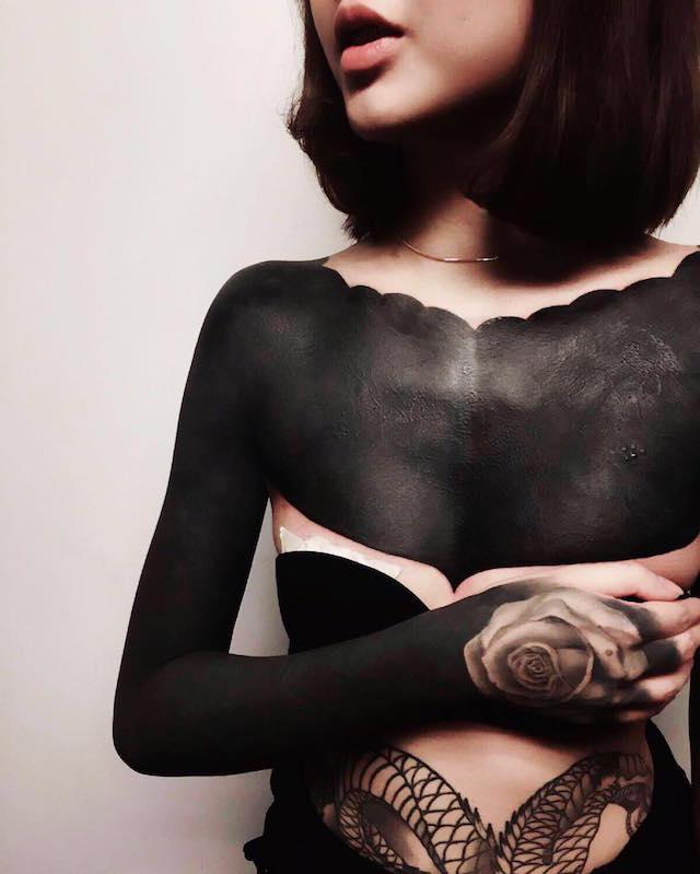 neo hurmahurma тату tatoo black черный цвет art
